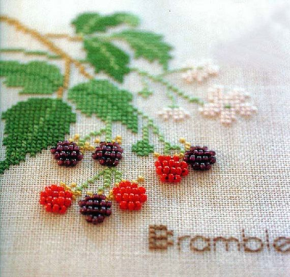 Creative Needlecraft Bead Embroidery DIY Kit Cross-stitch Kit Strawberry Pattern Blue Red Series Harvest Season Point de Croix