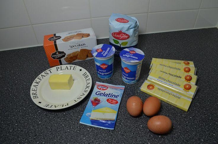 Met speculaasjes kan je lekker dingen maken. Deze taart met witte chocolade en speculaas is makkelijk maar VERRUKKELIJK! - Zelfmaak ideetjes