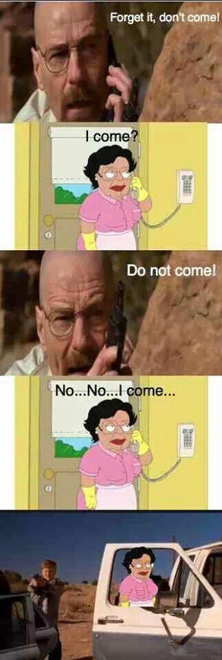 Breaking Bad meme ft Consuelo from Family Guy.