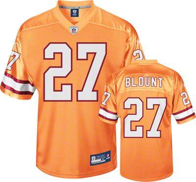 Reebok Tampa Bay Buccaneers Legarrette Blount 27 Orange Authentic Jersey Sale