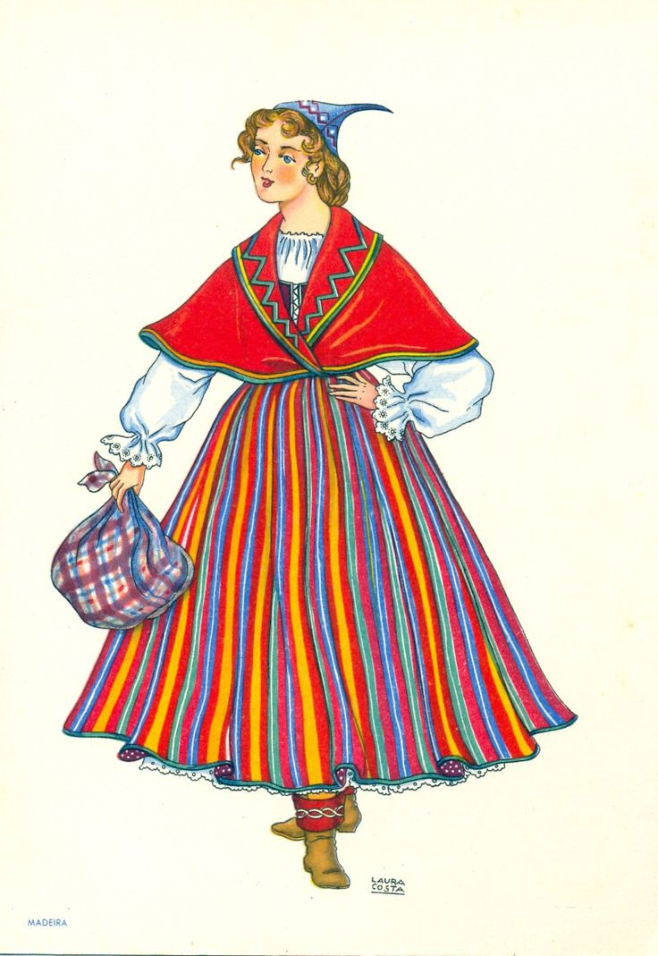 Portuguese traditional costume. Madeira