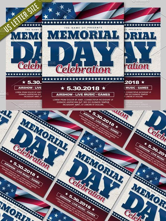 Memorial Day Flyer Event Flyer Pinterest Event flyers, Flyer