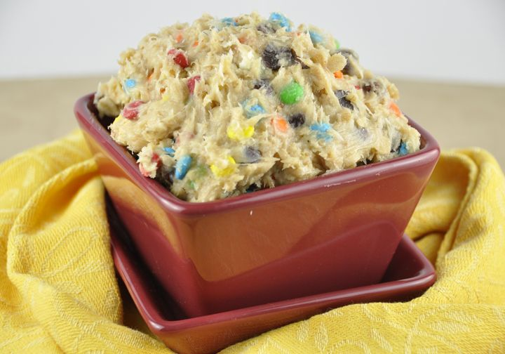 Monster Cookie Dough Dip.  Dangerously addictive!