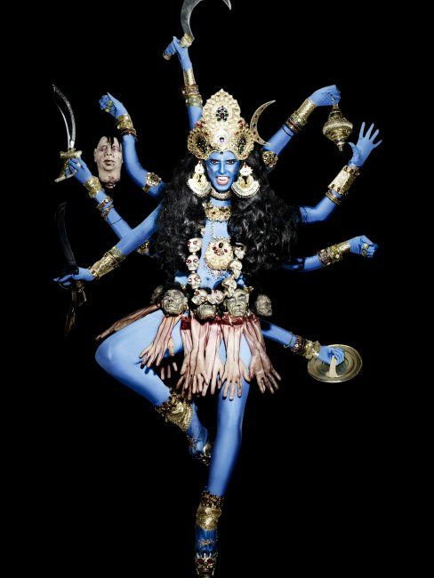 Heidi Klum as the goddess Kali, 2008Photographer: Rankin