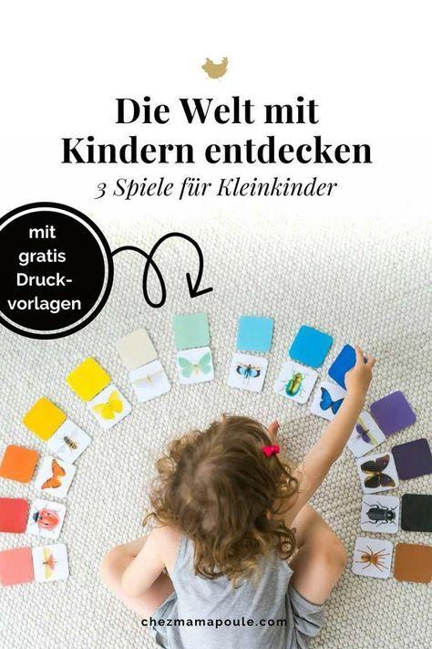 Käfer und Schmetterlinge entdecken: 3 Spiele für Kleinkinder (mit Druckvorlagen)