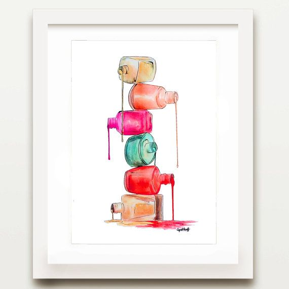 This is a PRINT of a fashion illustration signed by the artist, April Marion. This piece is a great addition to any room and a perfect gift for