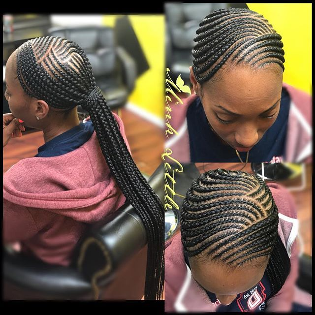 Low Feed In Ponytail Cornrows Feed In Ponytail Cornrow