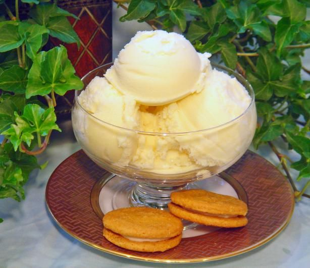 Lemon Custard Ice Cream from Food.com: This recipe comes from the historic Old Salem Tavern in Winston-Salem, NC. No word on whether or not this frozen treat was served to George Washington when he visited (though I doubt it). This recipe is a bit involved, but I think you will agree it is worth the effort. This ice cream is especially good with gingerbread.