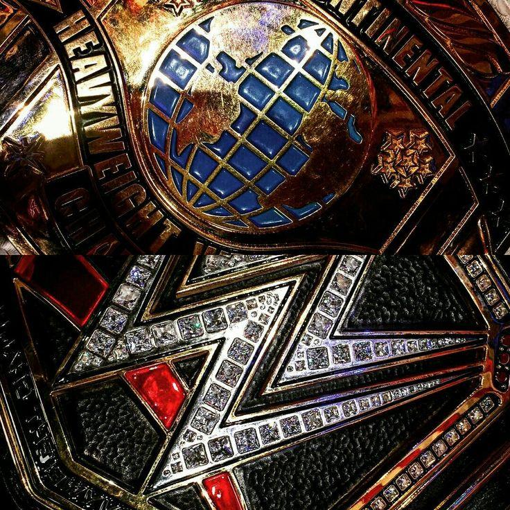 WWE Intercontinental and WWE Championship titles.