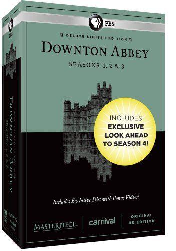 Masterpiece: Downton Abbey Seasons 1, 2 & 3 Deluxe Limited Edition (Amazon Exclusive Season 4 Bonus Features) DVD ~ Hugh Bonneville, http://www.amazon.ca/dp/B00D3PYQT0/ref=cm_sw_r_pi_dp_YSQStb15KQMAF