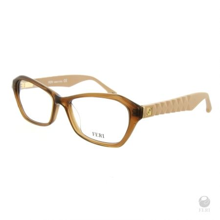 FERI - Helisinki Beige - Optical - Beige acetate optical glasses - Arms made with matte plastic for a luxury look - FERI logo on both outer arms - Rectangular frame shape - Comes with non-prescription plano Lens - Incredibly unique styling will turn heads - Estimated Specification - Frame Height 35mm - Lens Width 51mm - Bridge Width 17mm - Overall Width of Frame 130mm www.gwtcorp.com/ghem or email fashionforghem.com for big discount