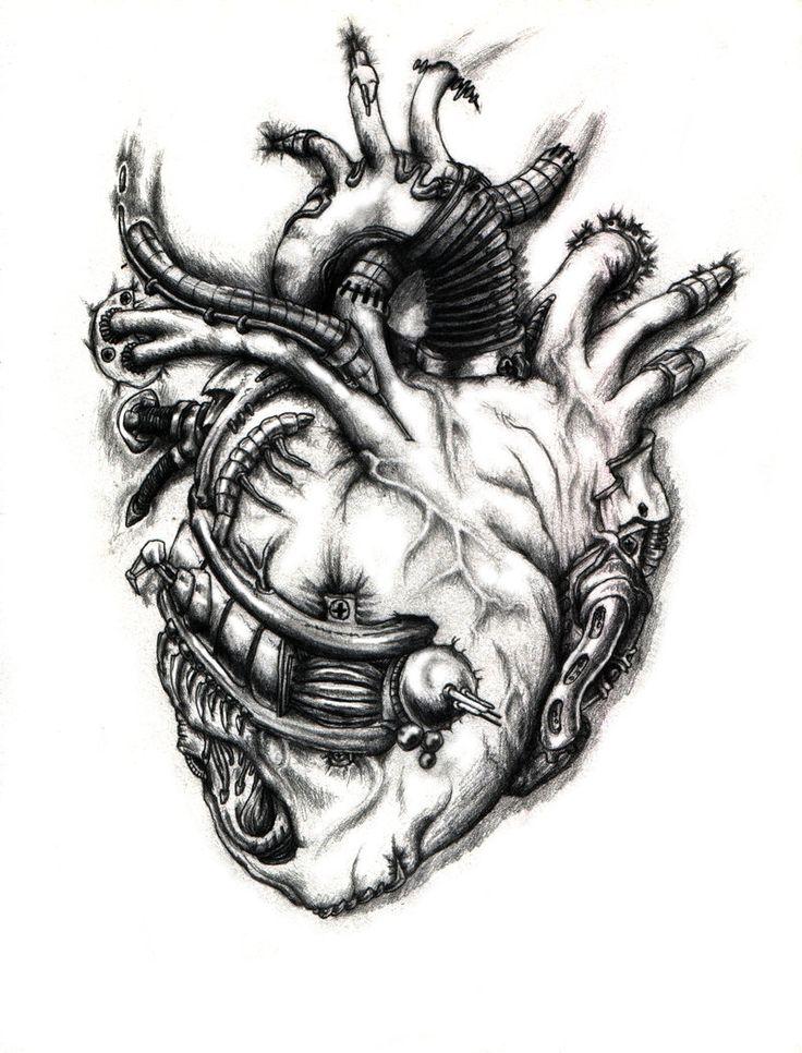 Biomechanical Heart by ~Bobbu on deviantART