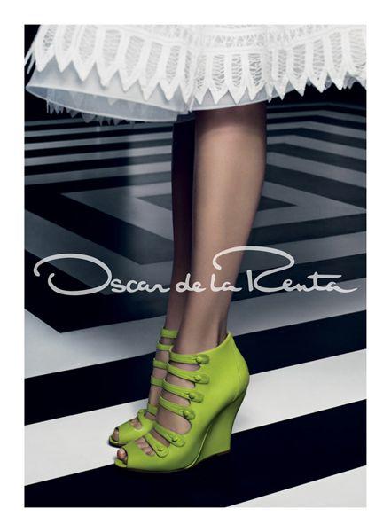 Green: Green Shoes, Oscar De La Renta, Craig Mcdean, Color, Ads Campaigns, Karlie Kloss, Oscars, Carboxylic Block, Larenta