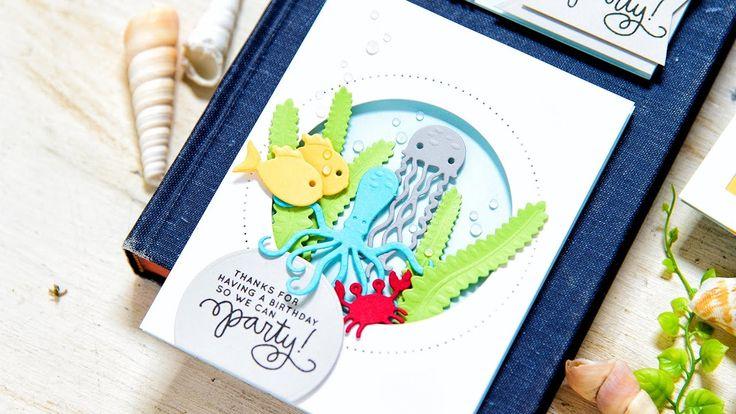 Spellbinders - Underwater Birthday Cards