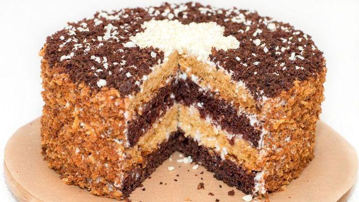Торт Сметанник - Очень вкусный и нежный торт, простой в приготовлении