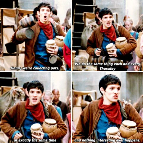 """Merlin - """"Do stop moaning. At least the work's interesting."""""""