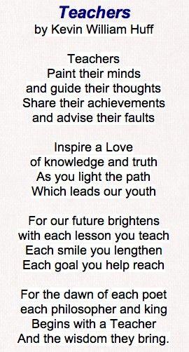 25+ best ideas about Teacher poems on Pinterest   Teacher ...
