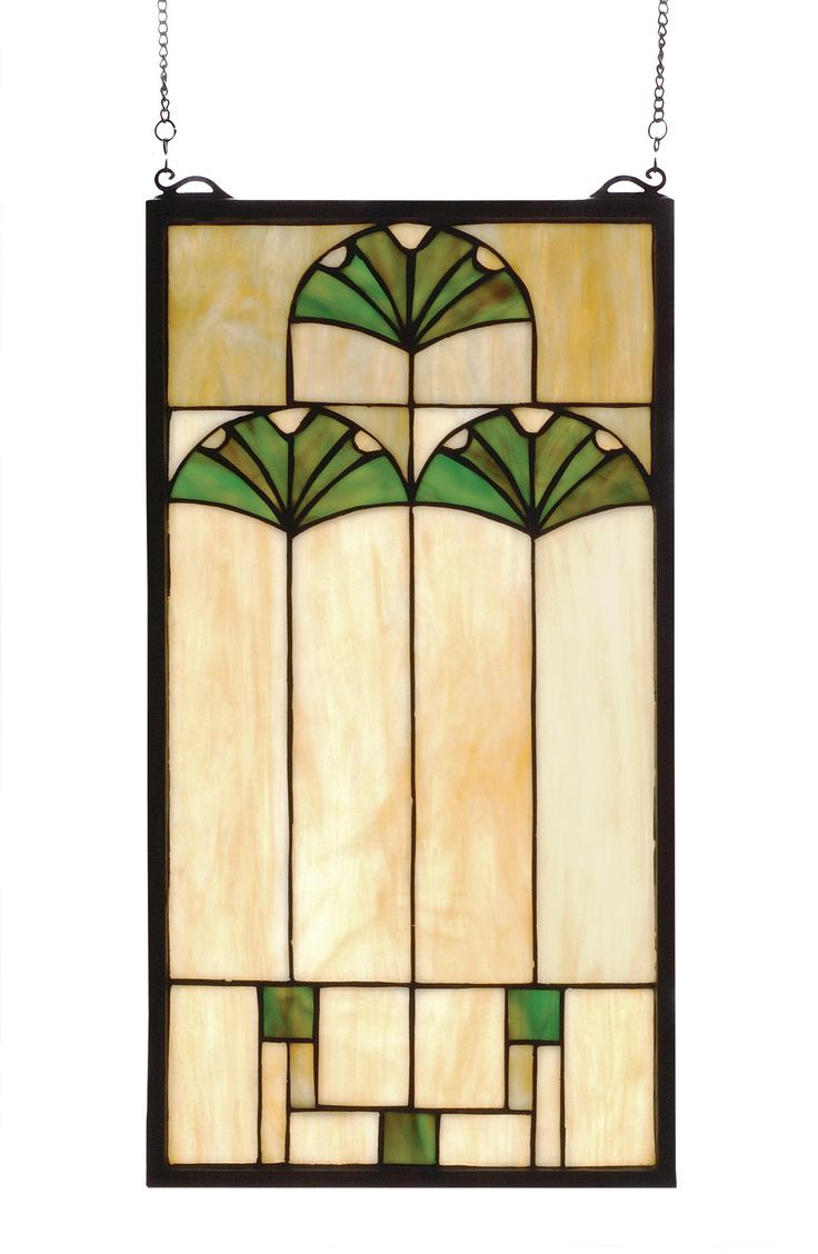 Beach theme decoration stained glass window panels arts crafts - 11 W X 20 H Ginkgo Arts Crafts Stained Glass Window