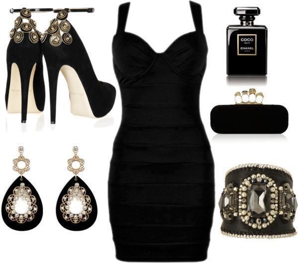 Accesorios Para Vestido Negro Corto De Noche Las Mejores