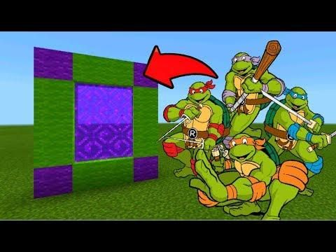 Minecraft Pe How To Make A Portal To The Ninja Turtles Dimension