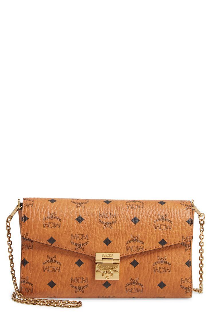 MCM Detachable Strap Clutch. #mcm #bags #shoulder bags