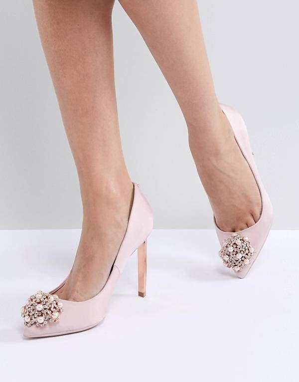 d929ad51747 Ted Baker Peetch Light Pink Embellished Shoes