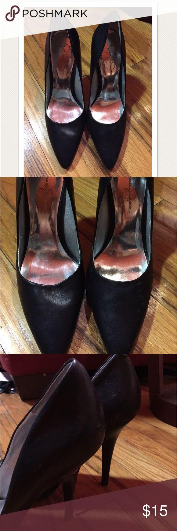 Jessica Simpson Black Pumps Jessica Simpson black leather pointy Pumps. Jessica Simpson Shoes Heels