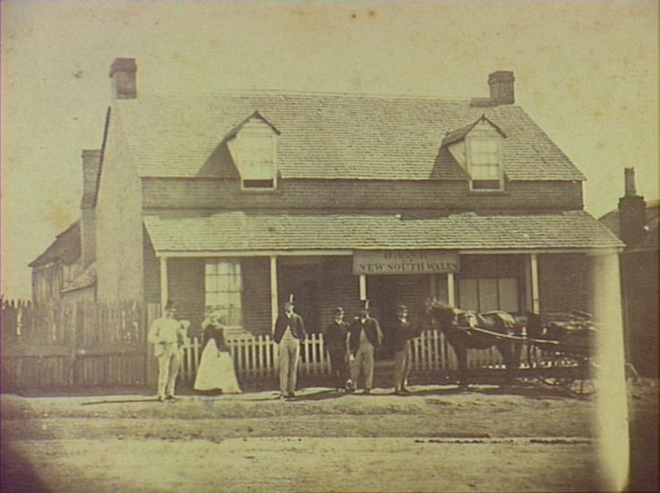 Bank of NSW Camden  Original bank building opened 1865 at 23-29 Argyle Street.