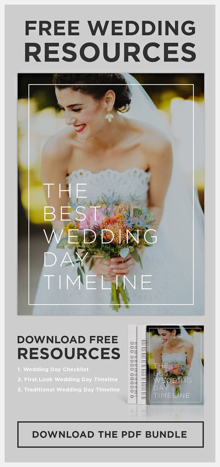 The Ideal Wedding Day Timeline