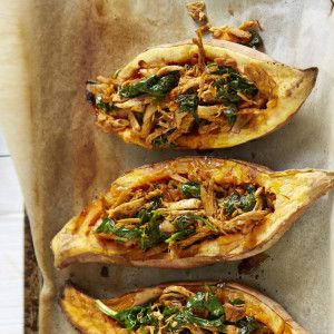 I Quit Sugar - Mexican Chicken and Sweet Potato Boats