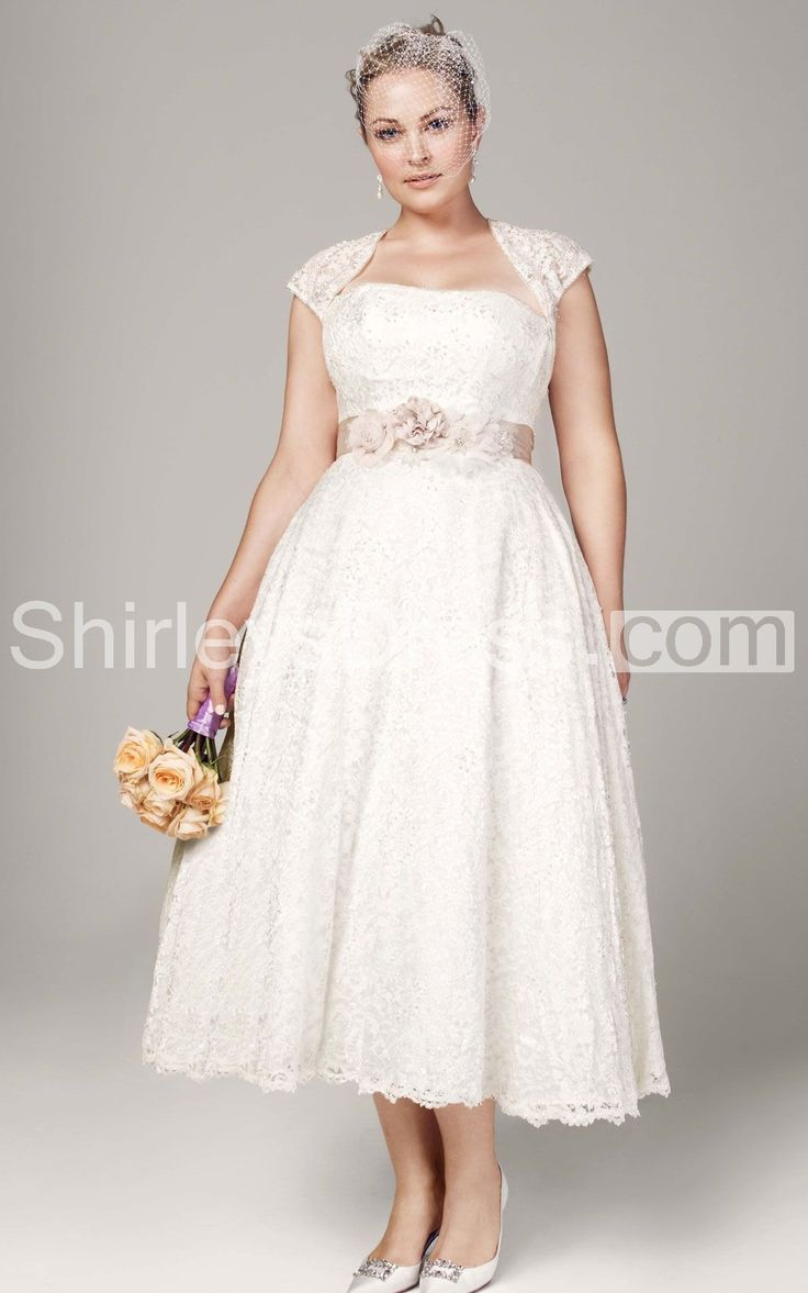 Short Wedding Dress Plus Size