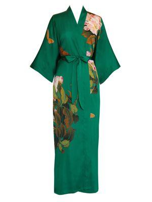 Kimono Robe - Printed (Long) || peony & butterfly