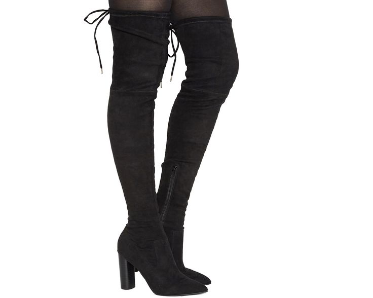 Office Kandy Shop Over The Knee Boots Black