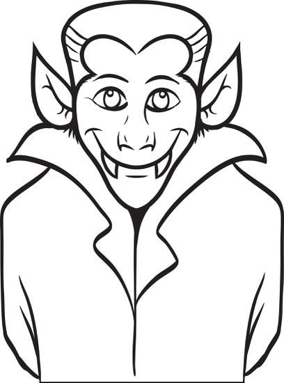 FREE Printable Dracula Coloring Page for Kids vampire