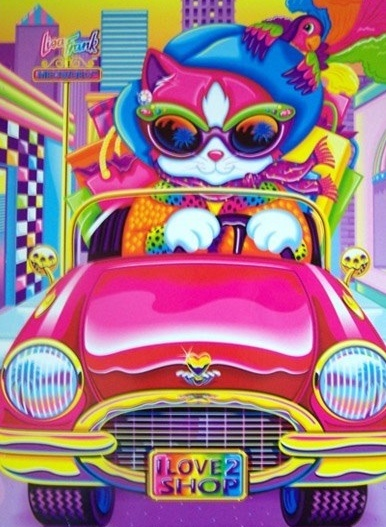 Lisa Frank- I had a notebook with this exact picture on the front. I think I still have it somewhere. love it