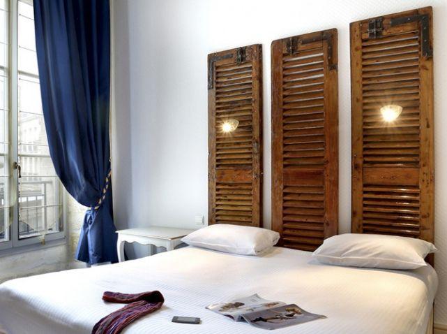 Une tête de lit récup' Hôtel La Tour Intendance - Bordeaux
