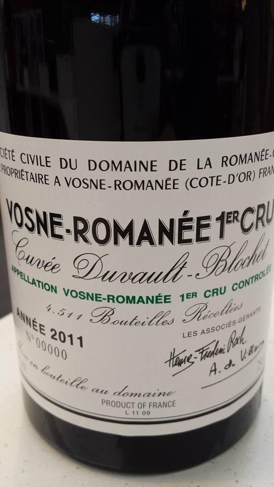 Wine of the day // Vin du jour : Domaine de la Romanée-Conti – Cuvée Duvault-Blochet 2011 – Vosne-Romanée 1er Cru (17/20) http://vertdevin.com/vin/domaine-de-la-romanee-conti-cuvee-duvault-blochet-2011-vosne-romanee-1er-cru/