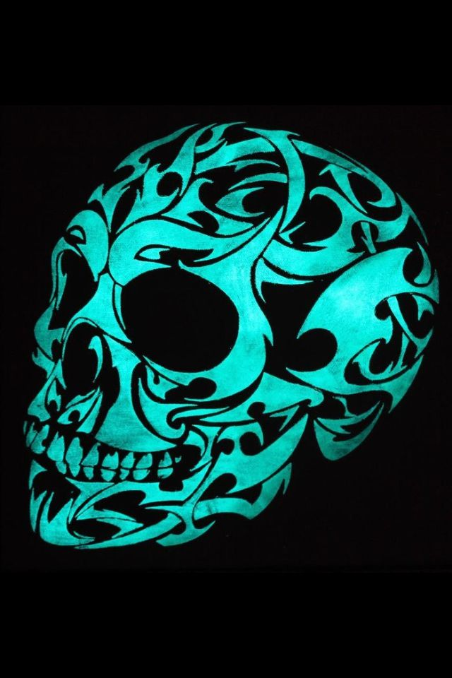 Glow In The Dark 3d Gothic Skull Canvas Print / Canvas Art by Twilight Vision