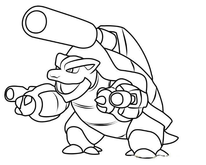 Blastoise Coloring Page Pokemon Coloring Sheets Pokemon