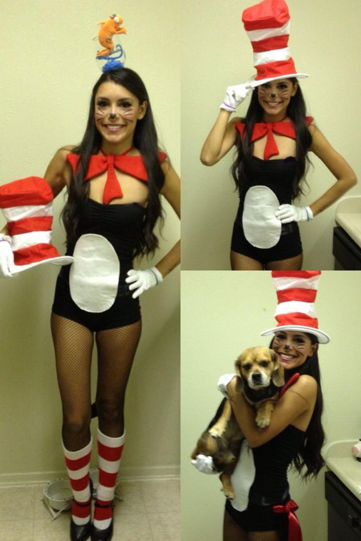 cat in the hat costume idea - Cat In The Hat Halloween Costume Ideas