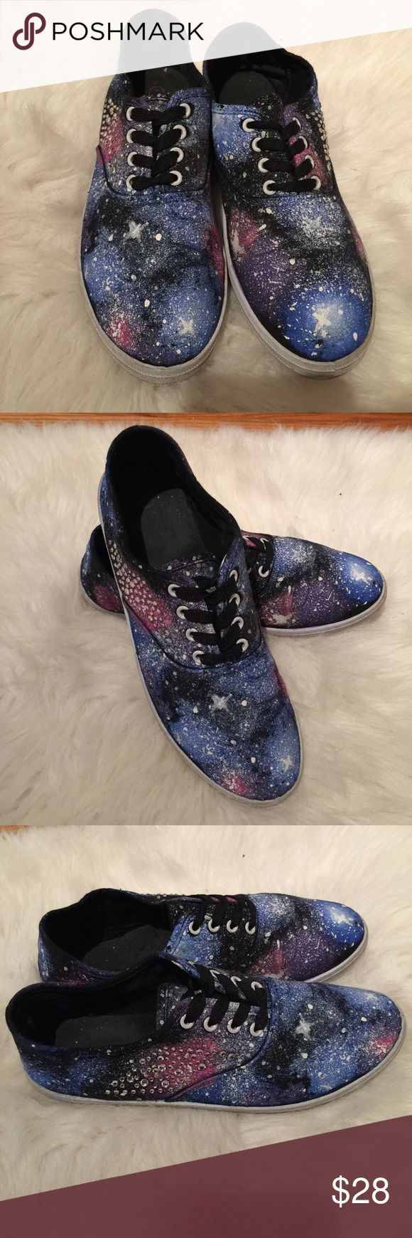 Galaxy Vans DIY Galaxy shoes! So neat and unique! Shoes Athletic Shoes