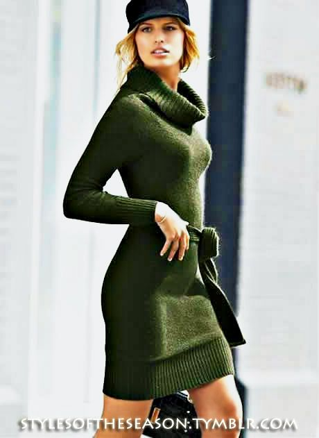 sweater dress...love the color, and sweater dresses feel like pj's!  :)