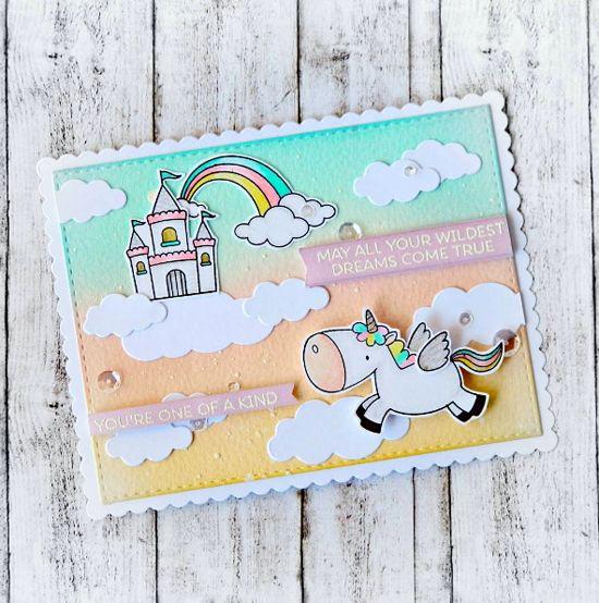 Birdie Brown Magical Unicorns stamp set and Die-namics  - Raluca Vezeteu…