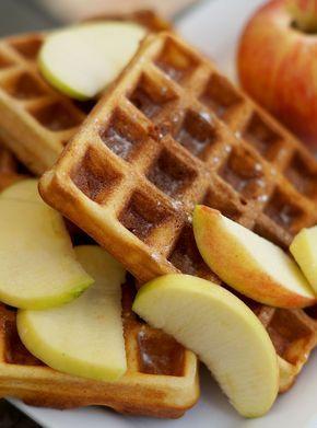 Gezonde havermoutwafels met appel en kaneel - VitaNouk.nl