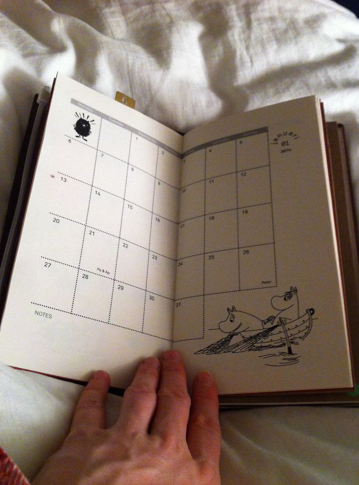 Another page of my Moomin Monthly Calender - Midori Traveler's Notebook Insert