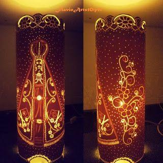 Fl@vio@rts10:   Luminária, Nossa Senhora Aparecida, com cano 150...