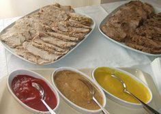 Tres salsas para acompañar carnes asadas