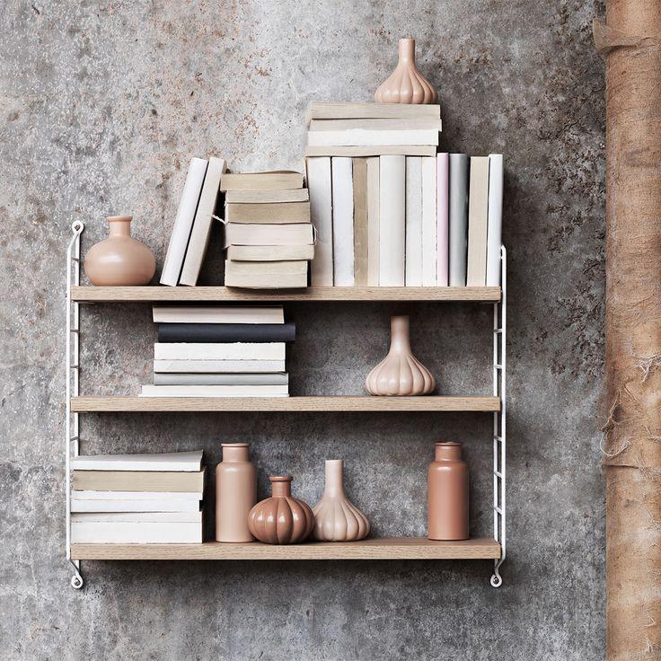 String Pocket shelf, oak/white – String #interior #design #scandinavian