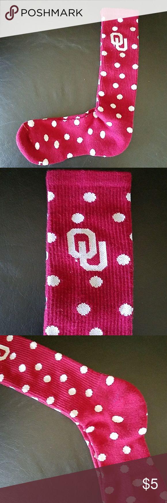 New OU sooner socks Perfect for OU football games Accessories Hosiery & Socks