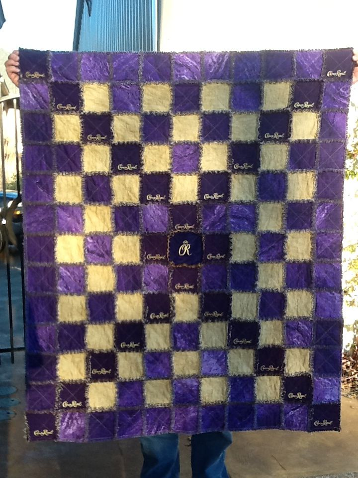 21 Best Quilt Images On Pinterest Crown Royal Bags Crown Royal